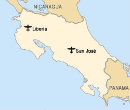 how to call liberia costa rica from canada